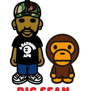 A BATHING APE - BIG SEAN X BAPE BABY MILO TEE  XL