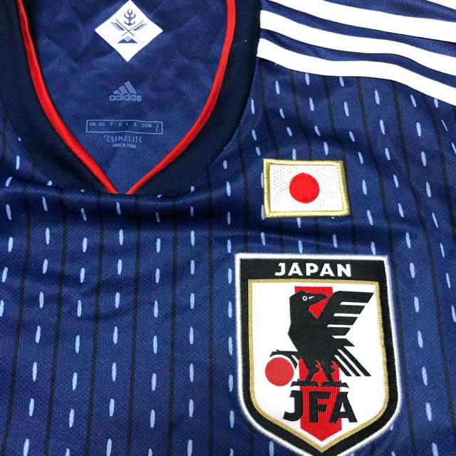 adidas(アディダス)のサッカー日本代表ユニフォーム Lサイズ スポーツ/アウトドアのサッカー/フットサル(ウェア)の商品写真
