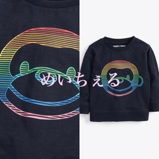 ネクスト(NEXT)の【新品】next ネイビー 長袖モンキーTシャツ(ヤンガー)(シャツ/カットソー)
