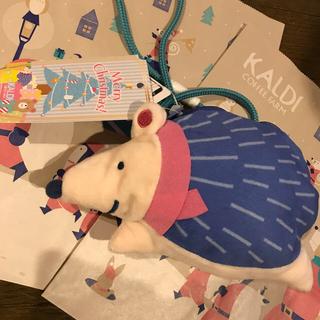KALDI - KALDIオリジナル!クリスマスポシェットはりねずみ