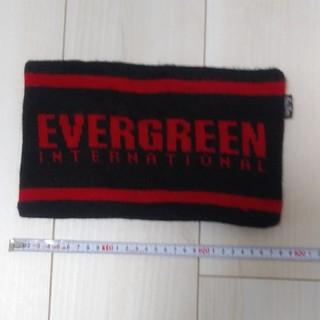 エバーグリーン(EVERGREEN)のネックウォーマー EVERGREEN 赤 黒(ネックウォーマー)