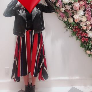 ワンウェイ(one*way)のRoomy's ストライプスカート(ひざ丈スカート)