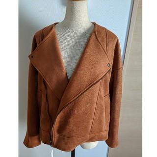 LOWRYS FARM - ブラウン オーバーサイズ ライダースジャケット