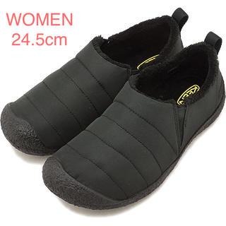 キーン(KEEN)のKEEN ハウザーII WOMEN 24.5cm モノクロームブラック(スリッポン/モカシン)