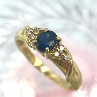 ジュエリーマキ(ジュエリーマキ)のジュエリーマキ K18 サファイア 0.53 ダイヤ デザイン リング 10号(リング(指輪))