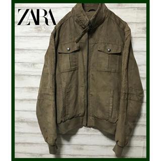 ZARA - ZARA MAN ザラ ★スエード調 ジャケット ブルゾン モカブラウン