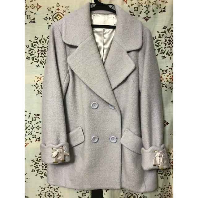 LIZ LISA(リズリサ)のLIZ LISA コート パープル レディースのジャケット/アウター(ピーコート)の商品写真
