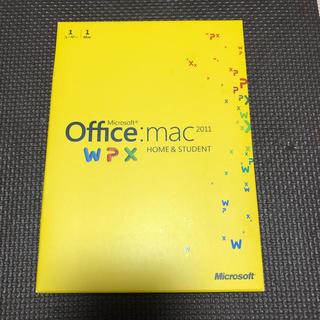 マイクロソフト(Microsoft)のMac Office Microsoft 2011 マック 専用 オフィス!(PC周辺機器)