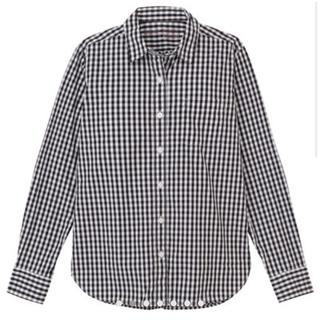 MUJI (無印良品) - オーガニックコットン 洗いざらしギンガムチェックシャツ M