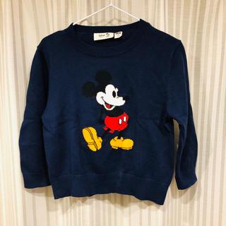 UNIQLO - 美品✨ユニクロ ディズニー ミッキー 薄手セーター 100
