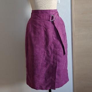 ページボーイ(PAGEBOY)のパープル スカート ページボーイ(ひざ丈スカート)