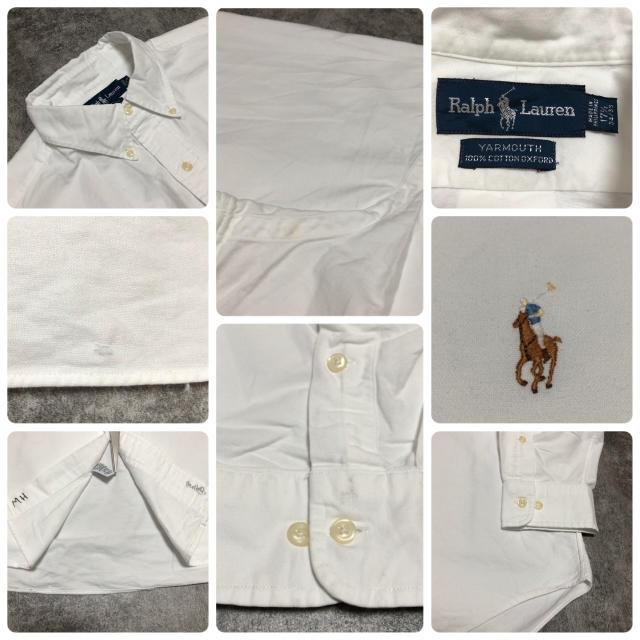 Ralph Lauren(ラルフローレン)の【激レア】ラルフローレン☆ワンポイント刺繍カラーポニーBDビッグシャツ 90s メンズのトップス(シャツ)の商品写真