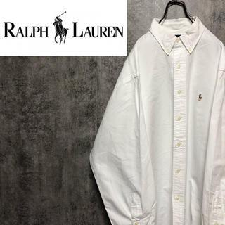 Ralph Lauren - 【激レア】ラルフローレン☆ワンポイント刺繍カラーポニーBDビッグシャツ 90s