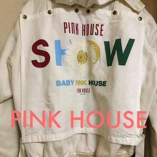ピンクハウス(PINK HOUSE)のピンクハウス  アウター ジャケット ゼッケン付き 花柄(ブルゾン)