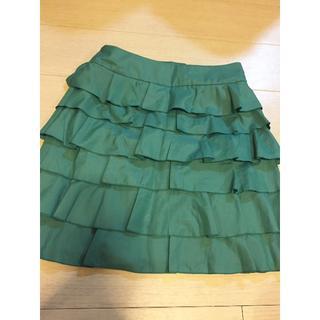 ランバンオンブルー(LANVIN en Bleu)のLANVIN en Bleu  ランバン  フリル スカート  (ひざ丈スカート)