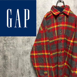 GAP - 【激レア】オールドギャップGAP☆レトロチェックポリウールアクリルネルシャツ