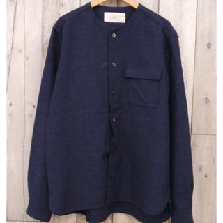 ネストローブ(nest Robe)のレア希少nestRobeCONFECTネストローブシャツジャケットバンドカラー(シャツ)