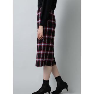 ナチュラルビューティーベーシック(NATURAL BEAUTY BASIC)のナチュラルビューティーベーシック チェックタイトスカート(ひざ丈スカート)