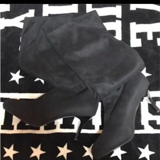 ロングブーツ ブラック LLサイズ(ブーツ)