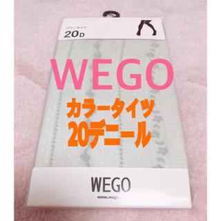 """ウィゴー(WEGO)のWEGO """"カラータイツ(レース柄)20デニール""""(タイツ/ストッキング)"""