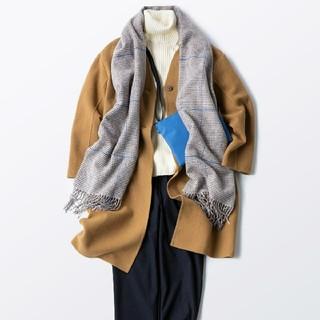 ムジルシリョウヒン(MUJI (無印良品))の無印良品 首のチクチクをおさえた洗えるワイドリブ編みタートルネック/オフ白/XL(ニット/セーター)