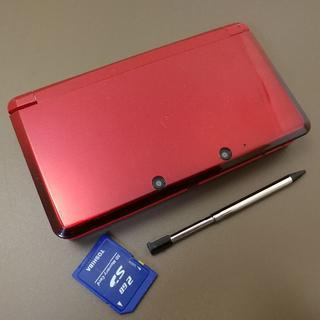 ニンテンドー3DS - 安心の整備済み!◆任天堂3DS 中古本体◆フレアレッド◆49