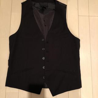 エイチアンドエム(H&M)のSALE  H&M エイチアンドエム ベスト ブラック 黒 送料込み(スーツベスト)