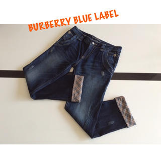 BURBERRY BLUE LABEL - BURBERRY BLUE LABEL⭐️ダメージ デニム/ジンーズ
