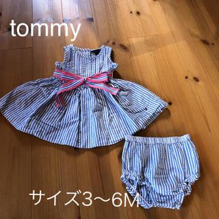 トミーヒルフィガー(TOMMY HILFIGER)のtommy赤ちゃんドレス 70(ロンパース)