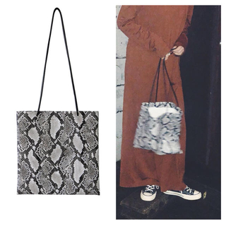 Dhyana - COUDRE FAKE LEATHER PYTHON TOTE