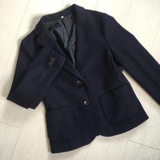 ムジルシリョウヒン(MUJI (無印良品))の無印良品 レディース ウールジャケット S ネイビー(テーラードジャケット)