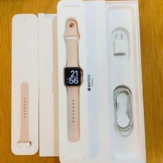 アップルウォッチ(Apple Watch)のAPPLE WATCH3 38mm シャンパンゴールド GPSモデル(腕時計)