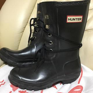 ハンター(HUNTER)のHUNTER レースアップレインブーツ 22センチ(レインブーツ/長靴)