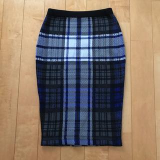 ルシェルブルー(LE CIEL BLEU)のルシェル チェックタイトスカート (ひざ丈スカート)