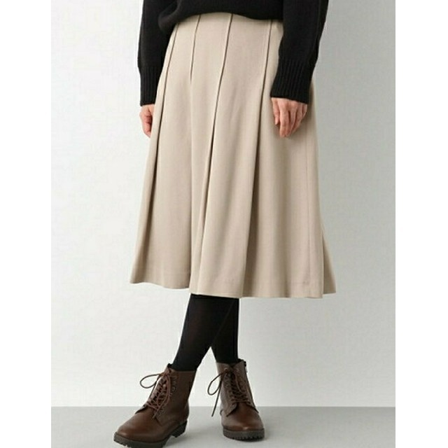 LEPSIM(レプシィム)のLEPSIMステッチタッグミディスカート レディースのスカート(ひざ丈スカート)の商品写真
