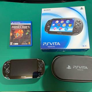 プレイステーションヴィータ(PlayStation Vita)の【本体+カセット】PlayStationVITA + マインクラフト(携帯用ゲーム機本体)