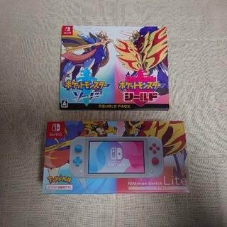 Nintendo Switch -  Switch Lite 本体 +ポケモンソード・シールドダブルパック 新品