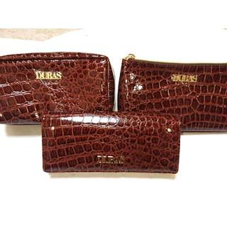 DURAS - デュラス 新品未使用 長財布&メイクポーチの3点セット バッグ リエンダ リップ