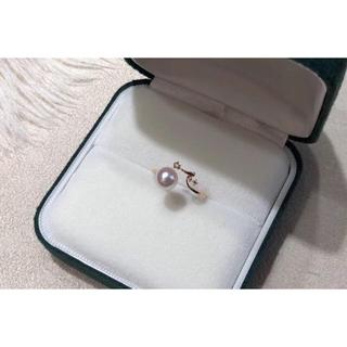 パール ダイヤモンド リング K18 新品(リング(指輪))