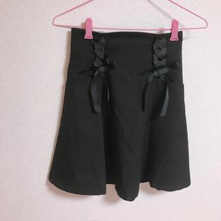 evelyn - レースアップフレアリボンスカート