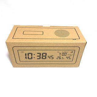 MUJI (無印良品) - 無印良品 デジタル電波時計 ブラック