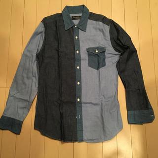 グリーンレーベルリラクシング(green label relaxing)のgreen label ブロッキングシャツ (デニムシャツ)(シャツ)