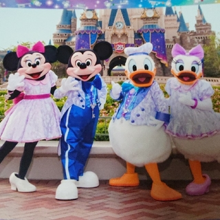 Disney - TDR25周年 ミッキー・ミニー・ドナルド・デイジー スペシャルフォト1枚