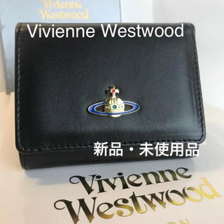 Vivienne Westwood - VivienneWestwood正規品・並行輸入品★三つ折黒財布★大人気のお財布
