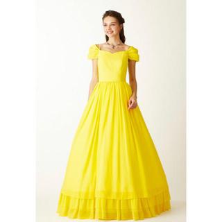 エメ(AIMER)のエメ ショールオーガンジーAラインドレス ステージドレス 13号 ロングドレス(ロングドレス)