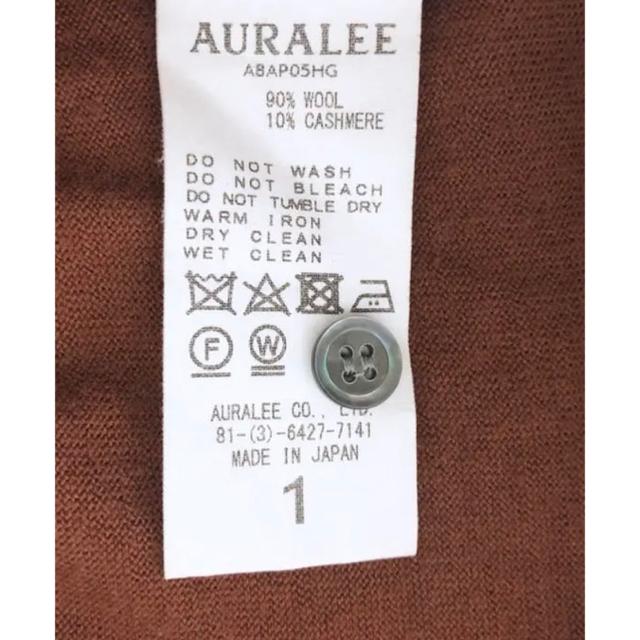AURALEE 18AW ビッグニットポロ カシミヤ ブラウン オーラリー レディースのトップス(ニット/セーター)の商品写真