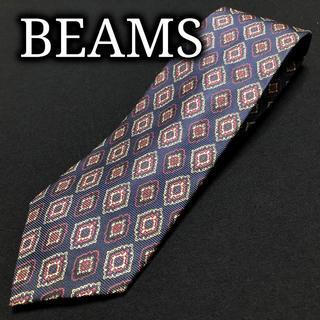ビームス(BEAMS)のビームス ダイヤデザイン ネイビー ネクタイ A101-O12(ネクタイ)