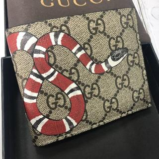 Gucci - GUCCI 折り財布 スネーク スプリーム メンズ