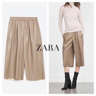 ZARA - ZARA フェイクレザーガウチョパンツ