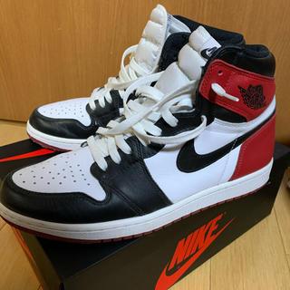NIKE - air jordan1 つま黒 black toe ジョーダン1